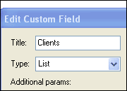 Edit Custom Fields