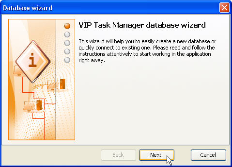 VIP Task Manager database wizard